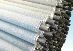 Extruded steel aluminum fin tube